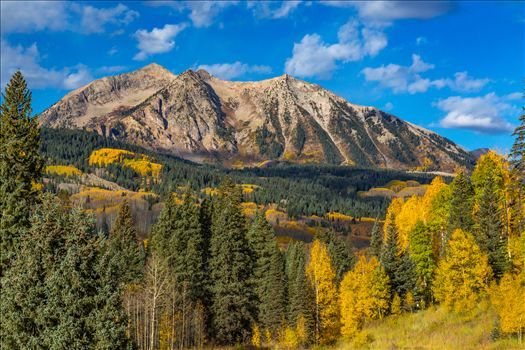 East Beckwith Mountain Detail - East Beckwith mountain from Kebler pass near Crested Butte, Colorado.