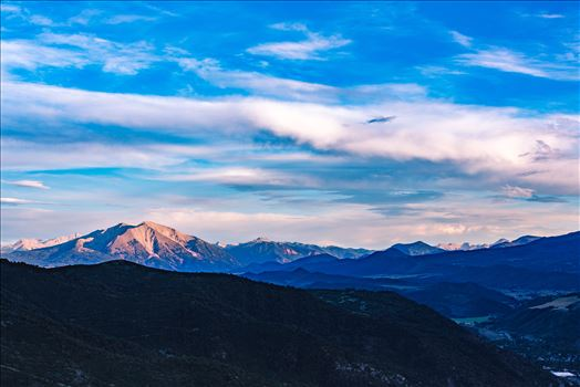 Sunset on Mount Sorpis from Glenwood Caverns by Scott Smith Photos