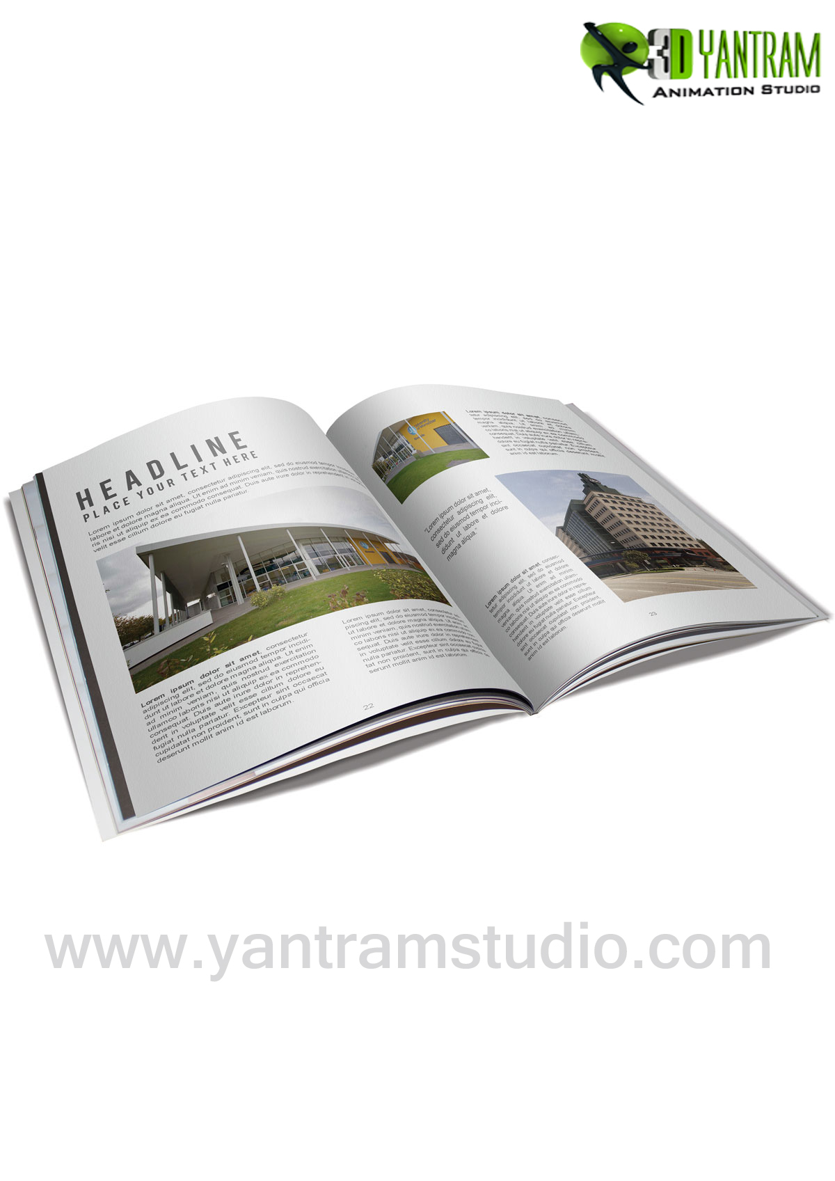 Real Estate Booklet Services By Yantram website development - New jersey, USA Digital Media Branding & Broadcasting Agency provides highly creative Interactive web app, Web Development, corporate identity. by yantramstudio
