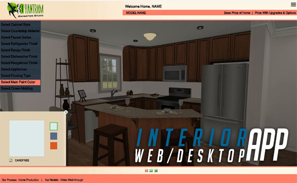 Virtual Interactive Desktop & WebGL Application For Interior vr development by yantramstudio