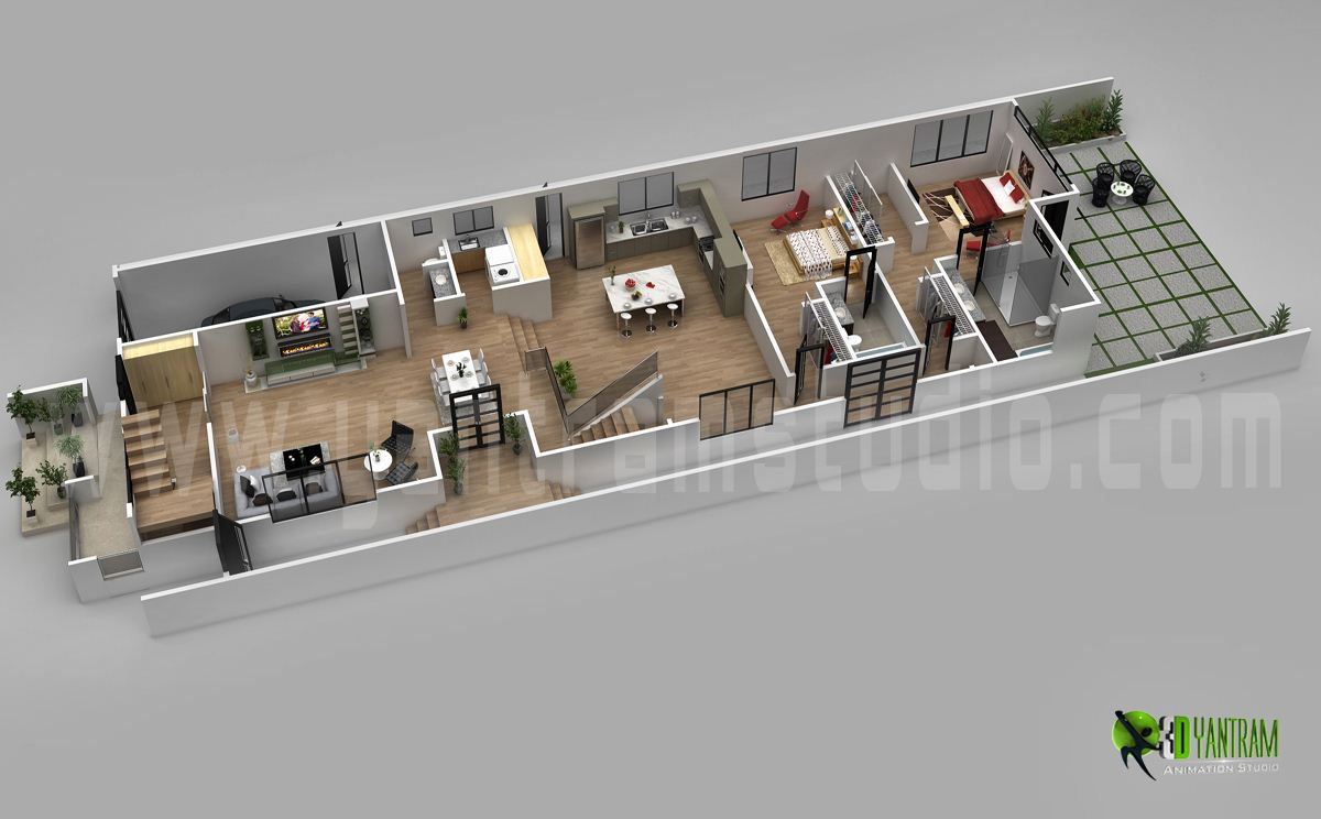 Architecture 3D Floor Plan Design By Yantramstudio | Village.
