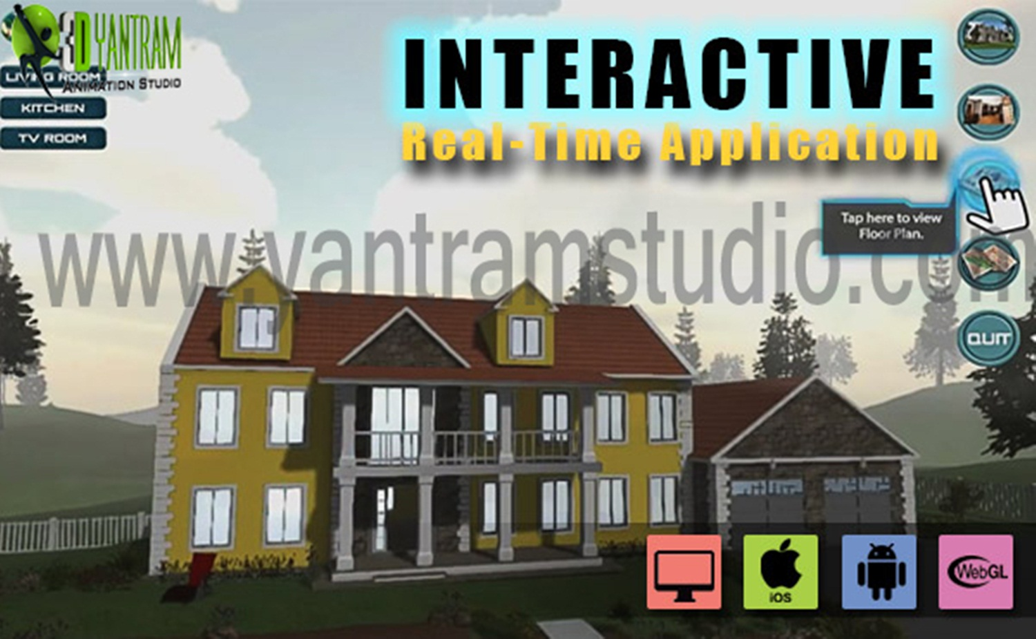 Interactive Virtual Reality By Yantram Virtual Reality Developer - Washington, USA VR Realstate marketing-oriented website that is well designed with calls to action can literally catapult your real estate business to the next level. Ninety-two percent of home buyers use the internet. by yantramstudio