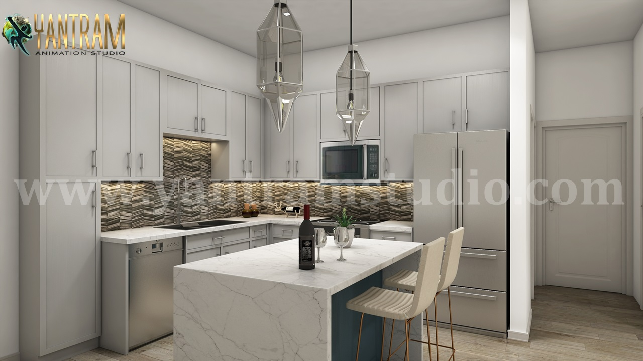 Modern Kitchen Interior 3d Rendering by architectural modeling services.jpg  by yantramstudio