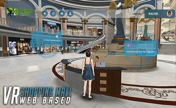 Virtual Interactive shopping Mall Application virtual reality application development companies design for real estate developer - Yantram studio by yantramstudio