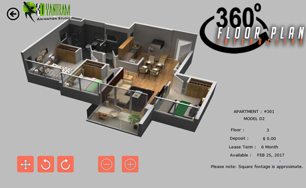 Virtual Reality Floor plan Our VR application developer provides virtual reality application. by yantramstudio
