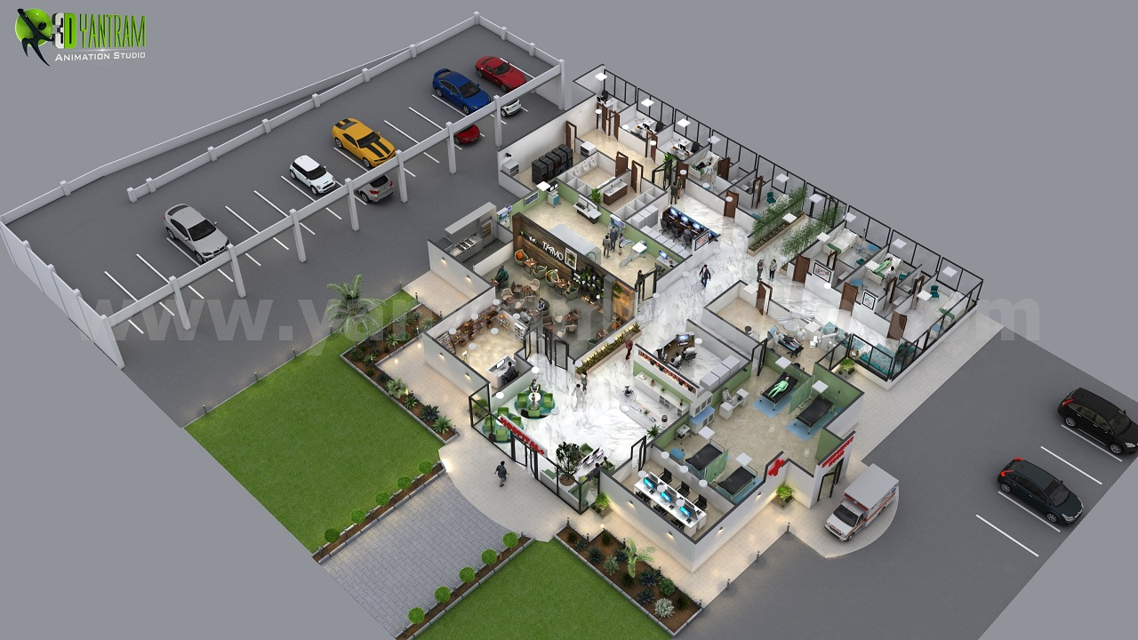 Innovative Hospital floor Plan design companies Ideas Miami Modern Hospital Design With Landscaping Come With Exam And Consulting Room And Outpatient Consulting And Storage With Atrium And Main Reception. The core of hospitality design is thoughtful design. by yantramstudio