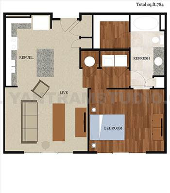 2d home floor plan design by yantramstudio