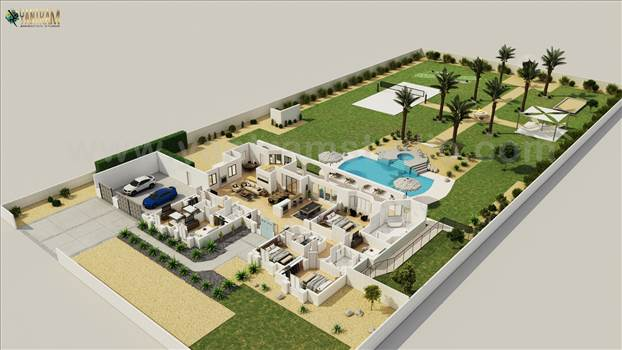 Luxurious 3D Virtual Floor Plan Design with landscape pool view by Architectural Rendering Companies, Bern - UK.jpg by yantramstudio