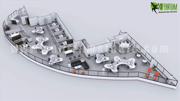 Modern 3D Office Floor Plan Concept.jpg by yantramstudio