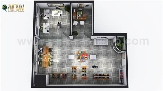 Project 194:- Modern Cloth Showroom Floor Plan design Ideas