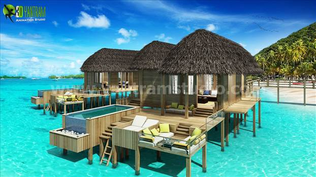 3D Conceptual Water House Design Ideas by yantram architectural rendering service Virginia by yantramstudio