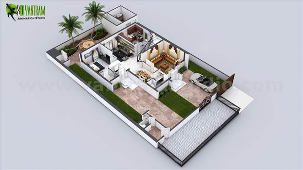 Ground Floor plan services by yantramstudio