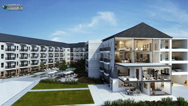 3D floor plan design of Residential Apartment by architectural design studio. (2).jpg by yantramstudio