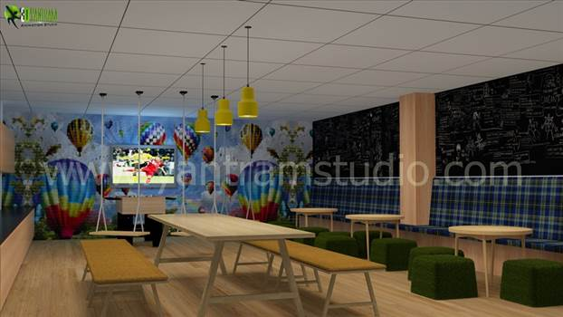 Modern Office Interior Design by yantramstudio