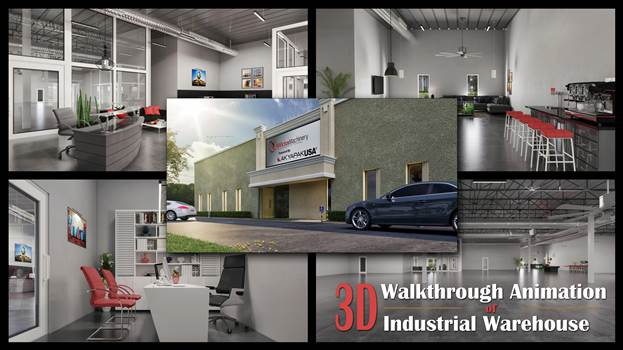 3D Walkthrough Animation Of Industrial Warehouse Office 3D Interior Rendering Services by Architectural Modeling Firm.jpg by yantramstudio