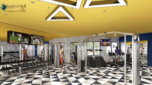 Trends in Fitness Center Design by architectural animation services.jpg by yantramstudio