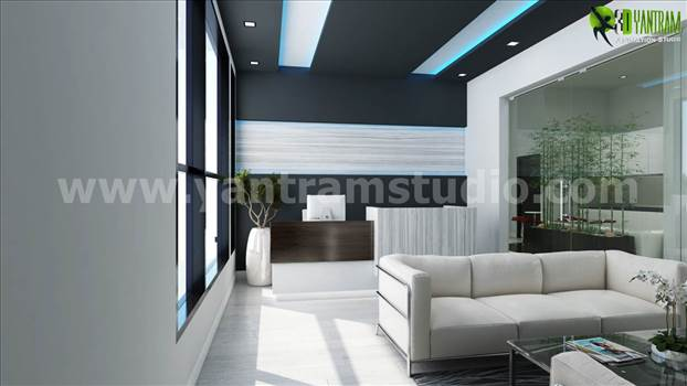 Office 3D Interior Rendering Modern Reception Area Design Ideas.jpg by yantramstudio
