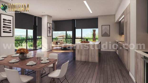 Project 890:- Matt Style Living kitchen Decorating Concept 