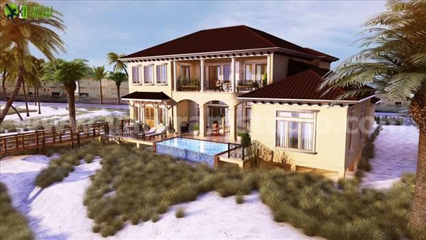 Residential 3D Elevation Rendering Design Boston by yantramstudio