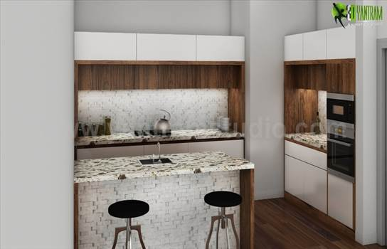 Amazing kitchen Interior Design Rendering by yantramstudio