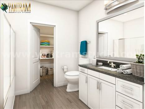 Project 1005: - Latest Elegance Bathroom Architectural 3D Interior Modeling