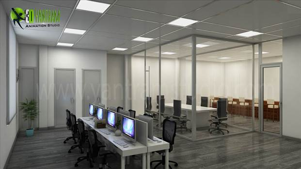 3D Interior Design Modern Office - Yantram Studio has expert Designer team for 3D Interior Design of Commercial Office, photorealistic Interior Rendering, CGI Design studio, Interior Design studio. Visualize \u0026 conceptualize your office property before it built.