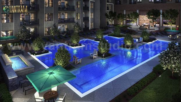 Project 758:- Exterior Courtyard Landscape Pool View Design ideas