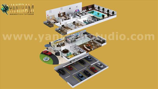 Project 754:- Hotel Style 3D Interior Floor Plan Design Concept