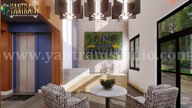 Reception & waiting area of architectural walkthrough services by 3d animation studio.jpg by yantramstudio
