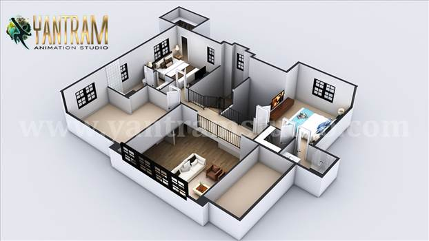 Second Floor Virtual Floor Plan Designer by architectural animation services.jpg by yantramstudio