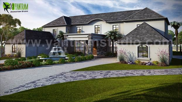 Exterior House Design by Yantram 3D Interior Designers - Atlanta, USA by yantramstudio