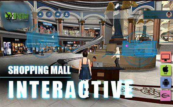 Virtual Interactive shopping Mall Application By Yantram virtual reality studio New York, USA by yantramstudio