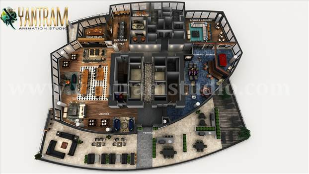 Project 1118:  3D Commercial Office Floor Plan Design