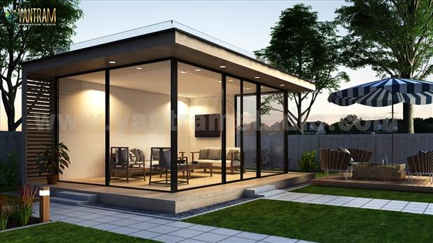 Exterior Gardenroom architectural 3d rendering sitting area by 3d animation studio.jpg by yantramstudio