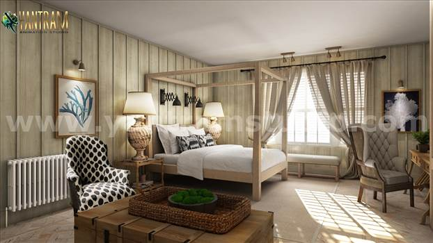 Project 1111: - Luxurious Master Bedroom 3D Interior Modeling Concept