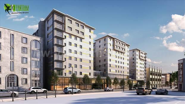 Roadside Exterior Apartment Architectural Rendering Studio.jpg by yantramstudio