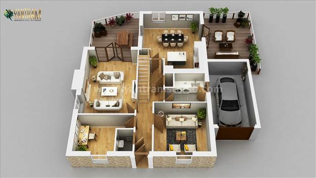 Residential ApartmentHouse of 3d home floor plan Design by Architectural Animation Services, Milan - Italy.jpg by yantramstudio