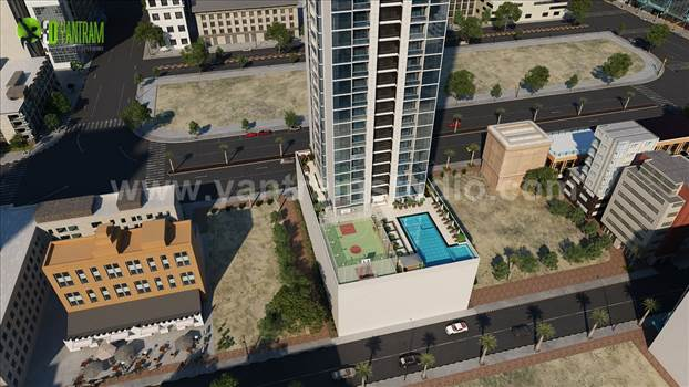 2-3d-exterior-residential-community-modeling-with-pool-by-yantram-exterior-rendering-services-1.jpg by yantramstudio