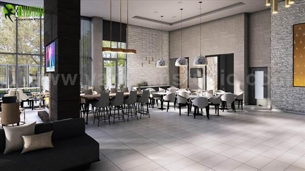 Best Cafe, Bar & Restaurant Interior Designs by Yantram Interior Design Firms - Vegas, USA by yantramstudio