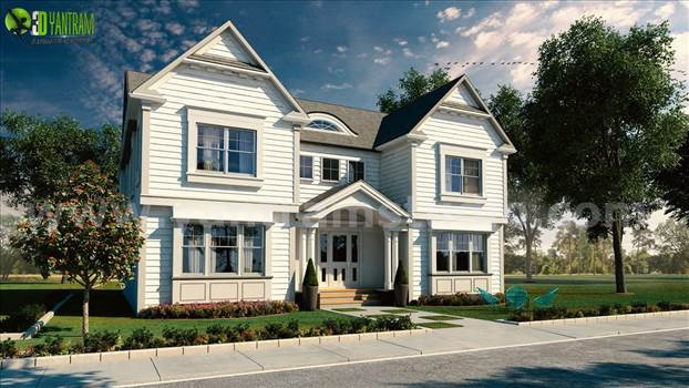 Latest Exterior Of Modern Bungalow Design, 3d ultra modern bungalow exterior day rendering with all the charming features of a storybook Bungalow. This spacious and desirable bungalow plan has class and comfort and is a great home.