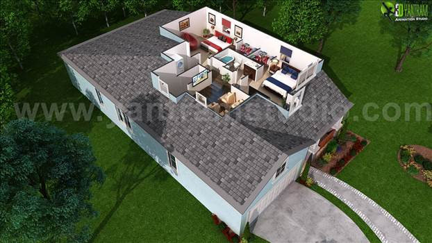 3D Floor Plan for Second Floor Plan by yantramstudio