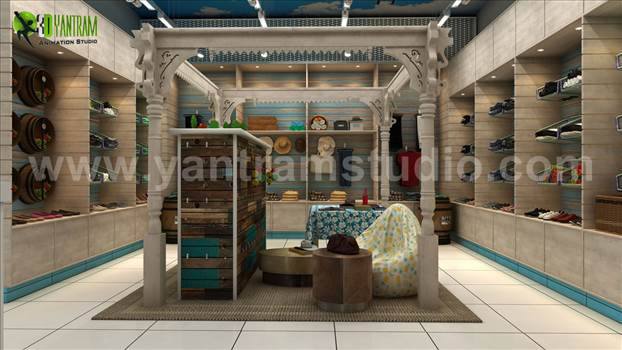 Project 36: 3D Interior Cloth Shop Design 