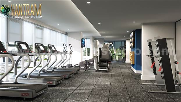 Project 1003: - Energy Fitness Sports & Commercial Gym Training Center 3D Interior Designers 