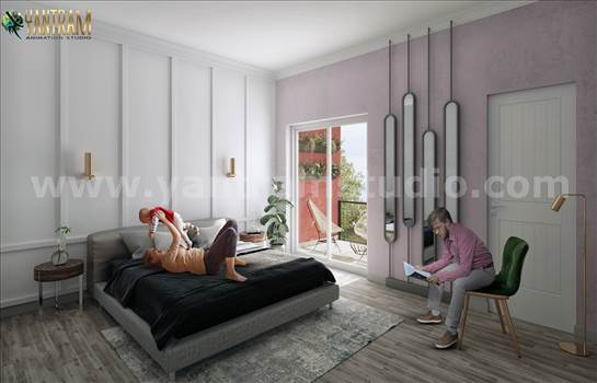 Project 195:- Master bedroom 3d interior design concept 