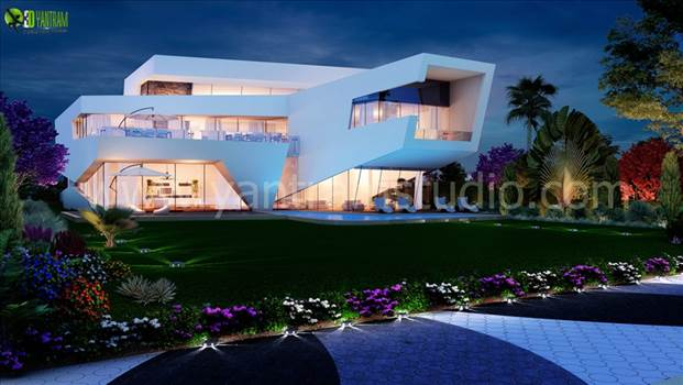 3D Modern Home Exterior Design by yantramstudio