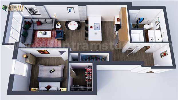 Best 3d floor plan by Yantram 3d Virtual Floor Plan designer, Oak Hill  – West Virginia.jpg by yantramstudio