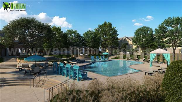 Project 142: Modern Exterior Pool view