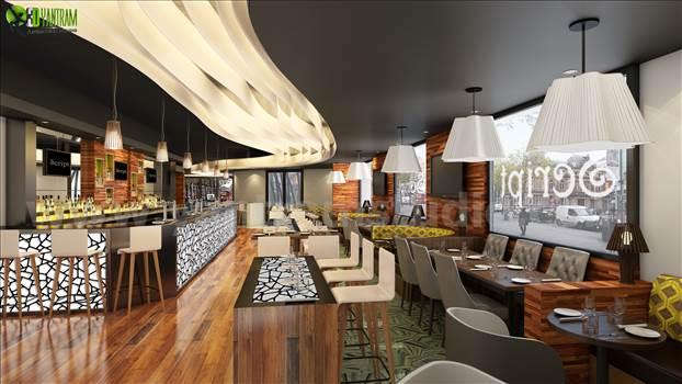 Bar 3D Interior Rendering Concepts Kirk lees by yantramstudio