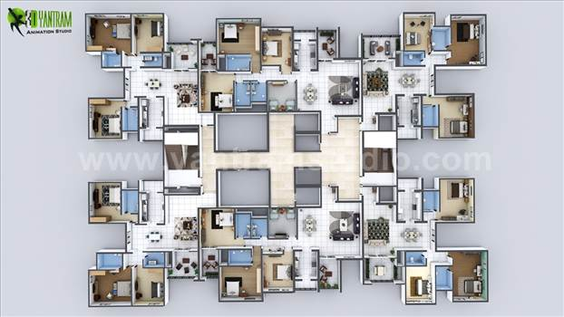 modern-multi-creative-3d-floor-plan-apartment-design-by-yantram-architectural-developer-studio.jpg by yantramstudio