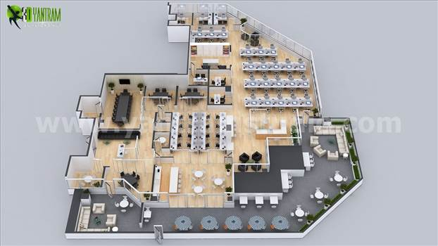 Project 162:- Office Space Virtual Floor Plan